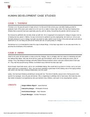 HUMAN DEVELOPMENT CASE STUDIES