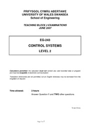 EG243 Control Systems 07 paper