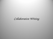 12. Collaborative Writing