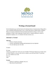 Formal Email Tips