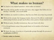 What makes us human2