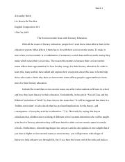 Essay 1 The Final draft