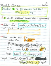MATH 1110 Fall 2013 Natural Logarithms Lecture Notes