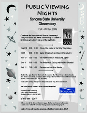 Public Viewing Night Schedule