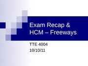 11 - Exam 1 Recap _ Freeways