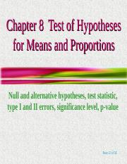 Hypothesis Testing Part 1 - Large Samples.ppt