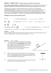 Sample Mid-Semester Test