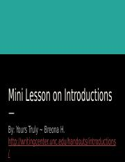 Mini Lesson on Introductions- Writing Portfolio.pptx