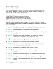 6TH Session - Assignment#6, Part C (Pedagogical Questionnaire)