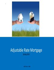 ch.3 Adjustable Rate Mortgages - ARM