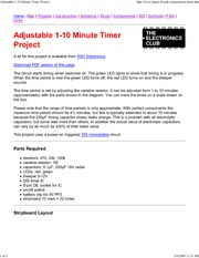 Adjustable 1-10 Minute Time