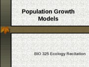 Population Growth Models