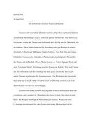 traumnovelle essay