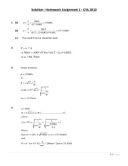 Solution - Homework Assignment 1 - CIVL 2810