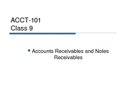 Fall 2007 Lecture 9 accounts and notes receivables