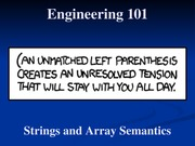 10 - Strings and Array Semantics
