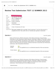 Review Test Submission TEST 12 SUMMER 2013