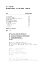 chap030 Government and Market Failure