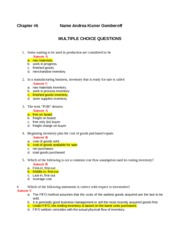 Ch #6 Questions 2012