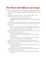 The Power and Influence of Groups
