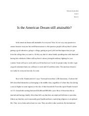 Is the American dream still attainable argument essay.docx