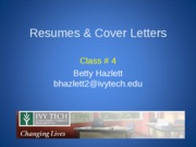 _4  Resumes & Cover Letters, Spring1,'10