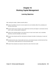 Financial Management Solution Manual Chapter 16