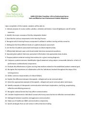 Safe and Effective Care Environment Module Objectives.docx