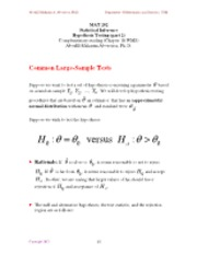 Chapter 10 - - Hypothesis Testing (part 2)