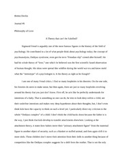 Philosophy of (Erotic) Love Journal #6