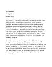 Discussion Board 8 social stratification  .docx