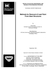 Methods for Removal of Lead Paint from Steel Structures