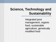 ScienceTechnologySustainability