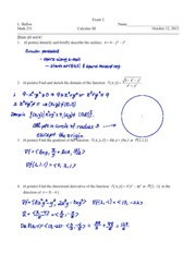 Exam 2 Fall 2012 Solutions