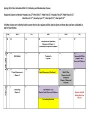 ISDS 3115 Schedule Spring 2014 Online Both sections Revised Jan 20 2014-2.docx