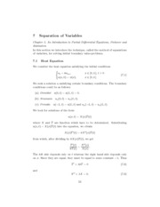 MATH 412 Notes 7.1 Separation of Variables