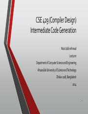 CSE 429 - Lecture07(Intermediate Code Generation)