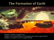 Powerpoint on the Formation of Earth