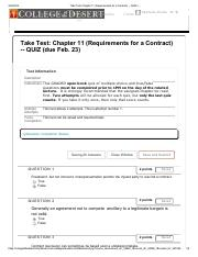 Take Test_ Chapter 11 (Requirements for a Contract)