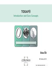 TOGAF-Introduction and Core Concepts-PUB
