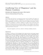 Conflicting uses of happiness