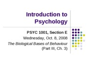 Lecture 6. Biological Bases of Behaviour (III, wo genetics)