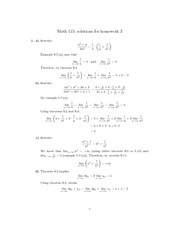 HOMEWORK 3- MAJOR THEOREMS REVISITED