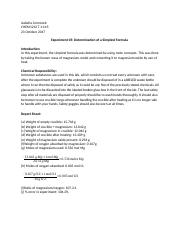 Experiment 05- Determination of a Simplest Formula  .docx