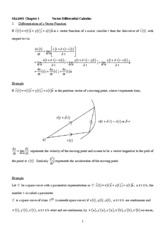 Ch.4 Vector Differential Calculus