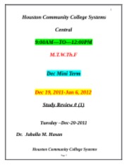 Study Review -I- -2