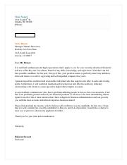 Professional writing- Cover letter for functional resume.docx