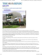 Is working in a nuclear power plant risky - The Hindu.pdf