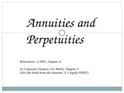 Finance1 - 05 - Annuities & Perpetuities