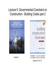 231-05 Governmental Constraint on Construction - Building Codes part 2